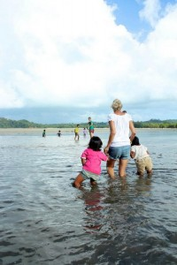 Taking children home from school on Koh Payam