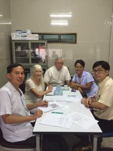 Dr. Wut, Amanda, Gary, Deuan & Dr. Chai at Takuapa Hospital.
