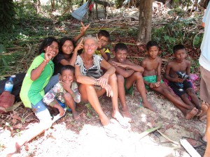 The kids we teach in the Sea Gypsy Village on Koh Payam